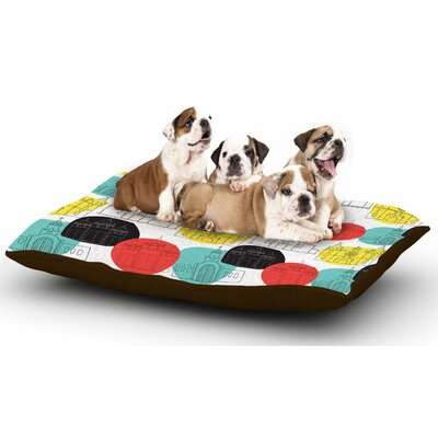 MaJoBV Cartagena Churches Polkadot Dog Pillow with Fleece Cozy Top