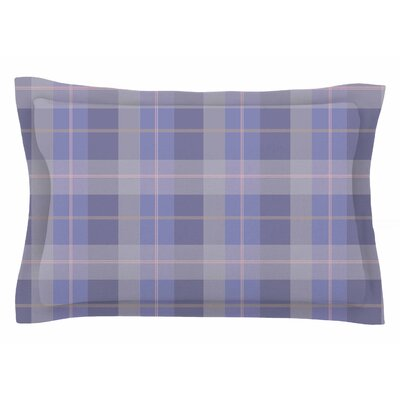 Afe Images Purple Plaid Illustration Sham Size: King