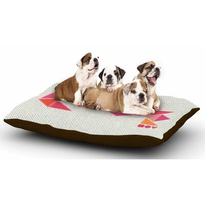 MaJoBV Stitched Love Geometric Dog Pillow with Fleece Cozy Top