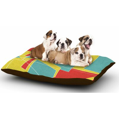 MaJoBV Cartagena Walls Geometric Dog Pillow with Fleece Cozy Top Size: Small (40 W x 30 D x 8 H)