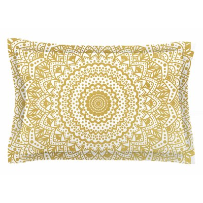 Nika Martinez Gold Mandala Illustration Sham Size: Queen