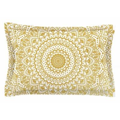 Nika Martinez Gold Mandala Illustration Sham Size: King
