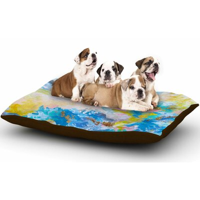 Ebi Emporium When We Were Mermaids Dog Pillow with Fleece Cozy Top