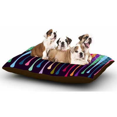 Famenxt Rainbow Drops Argyle Dog Pillow with Fleece Cozy Top