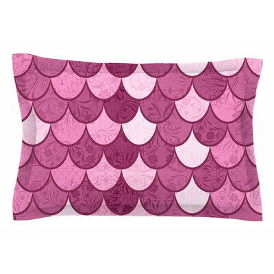 Famenxt Pink Mermaid Illustration Sham Size: King