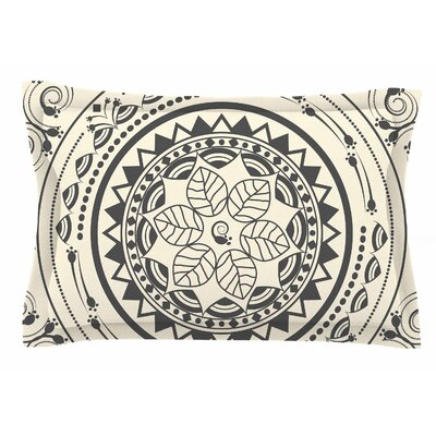 Famenxt Boho Folk Digital Sham Size: Queen, Color: Beige/Black