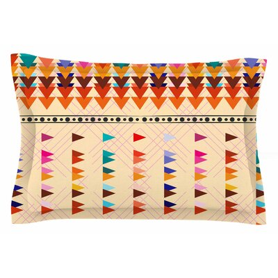 Famenxt Bohemian Triangle Illustration Sham Size: Queen