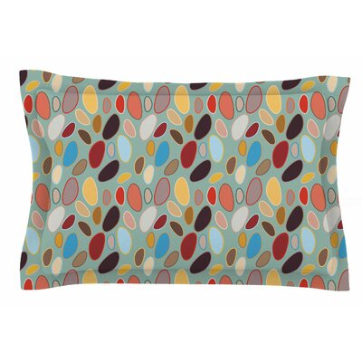 Empire Ruhl Fall Pebbles Digital Sham Size: Queen