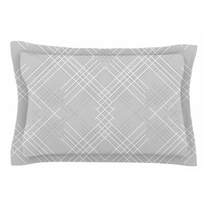 Famenxt Gray Abstract Illustration Sham Size: Queen
