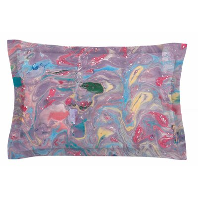 Danii Pollehn Pink Marble Painting Sham Size: 20 H x 30 W x 1 D