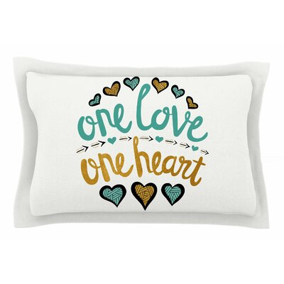 Pom Graphic Design One Love One Heart Typography Illustration Sham Size: Queen