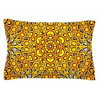 Philip Brown Golden Kaleidoscope Sham Size: Queen