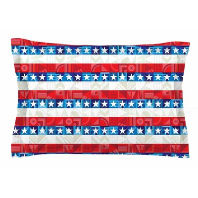 Fimbis 'USA' Digital Sham Size: King