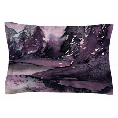 Ebi Emporium Never Leave the Path 6 Watercolor Sham Size: Queen