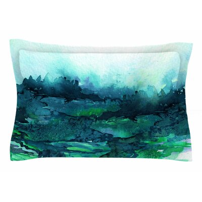 Ebi Emporium The Long Road 7 Watercolor Sham Size: 20 H x 40 W x 0.25 D