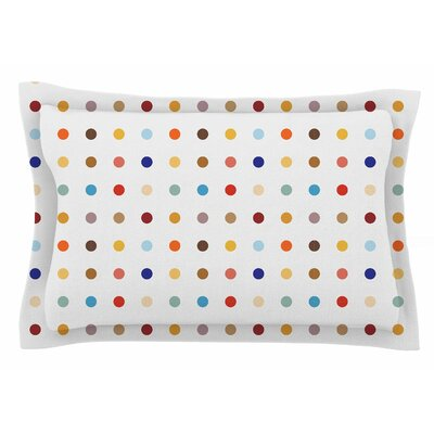 Empire Ruhl Fall Dots Digital Sham Size: King