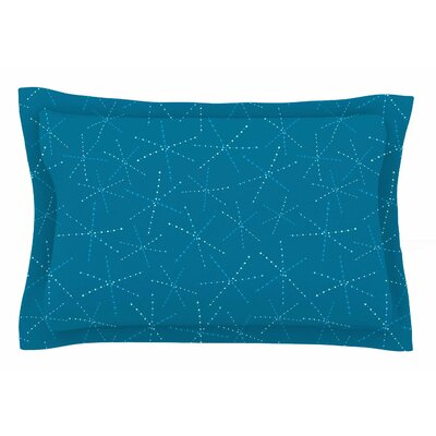 Jane Smith 'Cool Sparkle Starbursts' Illustration Sham Size: Queen
