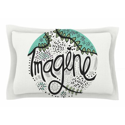 Pom Graphic Design Imagine Nature Typography Sham Size: Queen
