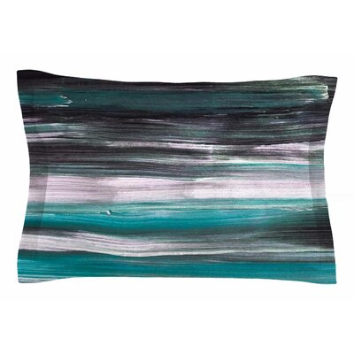 Hitidesign Mixed Brush Strokes Painting Sham Size: Queen