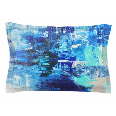 Geordanna Fields Walked on Water Abstract Sham Size: King