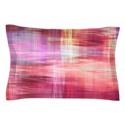 Ebi Emporium Blurry Vision 4, Pink Painting Sham Size: King