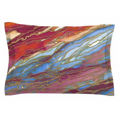 Ebi Emporium Agate Magic, Autumn Dust Watercolor Sham Size: King