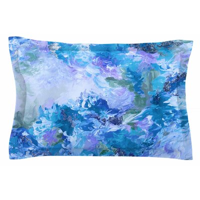 Ebi Emporium When We Were Mermaids 15 Blue Watercolor Sham Size: King