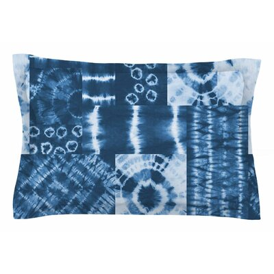 Jacqueline Milton Shibori Patchwork - Indigo Abstract Mixed Media Sham Size: King