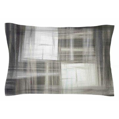 Ebi Emporium Tartan Crosshatch, Grayscale Painting Sham Size: 20 H x 40 W x 0.25 D