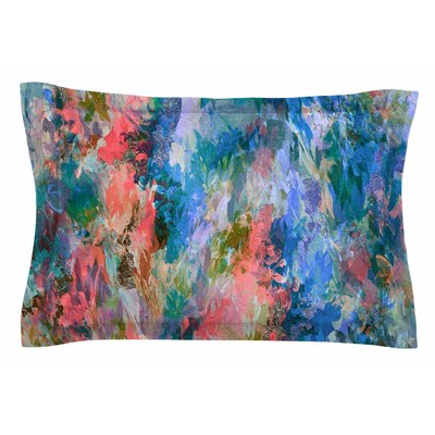 Ebi Emporium The Nexus, Blue Coral Painting Sham Size: Queen