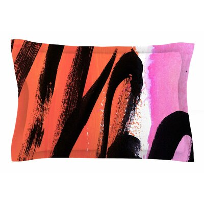 Iris Lehnhardt Strokes on Sherbet Abstract Sham Size: Queen