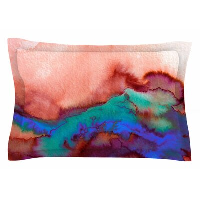 Ebi Emporium Winter Waves, Prismatic Vision Watercolor Sham Size: King