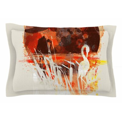 Frederic Levy-Hadida Moon Painted with Tea Digital Sham Size: Queen