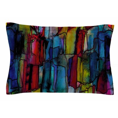 Ebi Emporium Facets of the Self 4 Mixed Media Sham Size: Queen