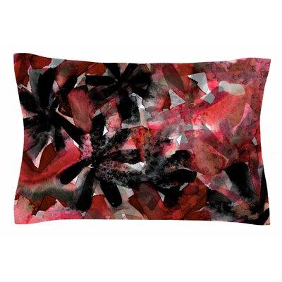Ebi Emporium Snowy Stars, Red Painting Sham Size: King