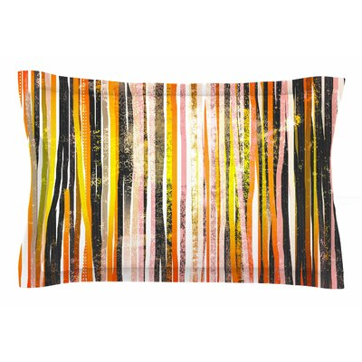 Frederic Levy-Hadida Chocolate Stripes Illustration Sham Size: Queen