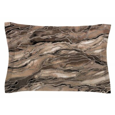 Ebi Emporium Marble Idea, Rustic Elements Watercolor Sham Size: Queen