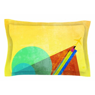 Frederic Levy-Hadida Landing Geometric Mixed Media Sham Size: King