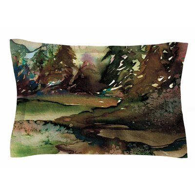 Ebi Emporium Never Leave the Path 1 Watercolor Sham Size: Queen