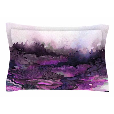Ebi Emporium The Long Road 5 Watercolor Sham Size: 20 H x 30 W x 1 D