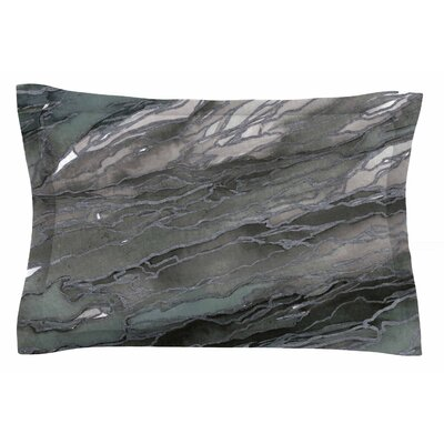 Ebi Emporium Agate Magic, Elegance Watercolor Sham Size: Queen