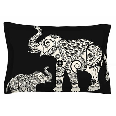 Famenxt 'Ornamental Indian Elephant' Digital Sham Size: 20