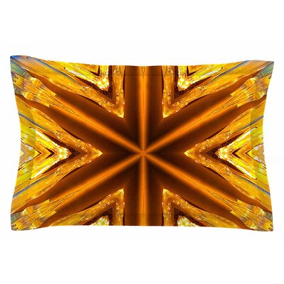 Philip Brown 'Gold Star Icicles' Sham Size: 20