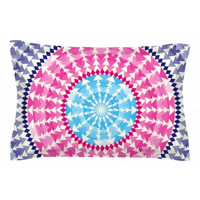 Famenxt Mandala Pink Blue Illustration Sham Size: King