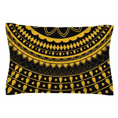 Famenxt Golden Vibes Mandala Digital Sham Size: King