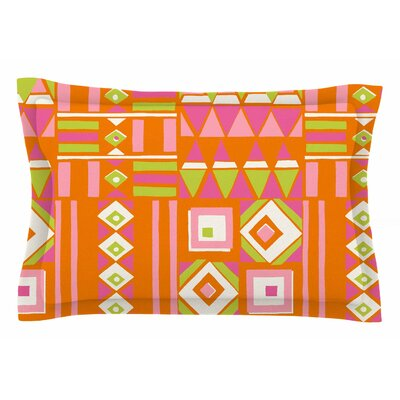 Jacqueline Milton Heatwave Illustration Sham Size: Queen, Color: Orange/Pink