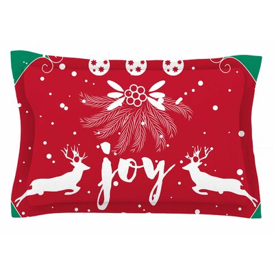 Famenxt Christmas Joy Digital Sham Size: Queen