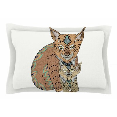 Pom Graphic Design Mama and Baby Lynx Animals Vector Sham Size: Queen
