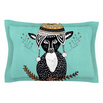 Pom Graphic Design Hipster Deer Animals Illustration Sham Size: King