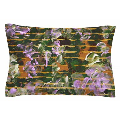 Ebi Emporium Gold Dust Garden Mixed Media Sham Size: Queen